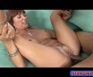 Watch how the horny milf enjoys the nigger dick of her fuck