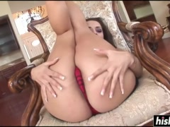 Liza Del Sierra enjoys his black schlong