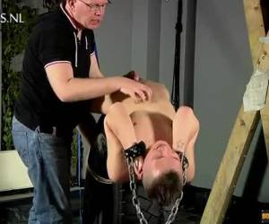 Tied word the boy by the older man blowjob and deducted