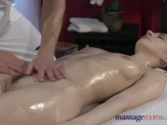 Massage Rooms Tall Russian model has sweet pussy stretched with hard cock