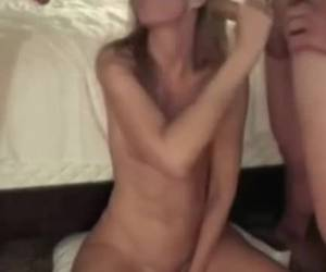 A trio sex whiteh his girlfriend and friend blowjob and fuck