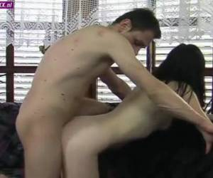 After a horny foreplay fucks his wife hard
