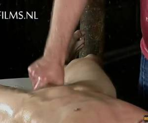 Masseur ties him and gives him a kinky massage