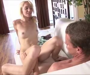 Horny pornstar Brittni James in best blowjob, small tits adult movie