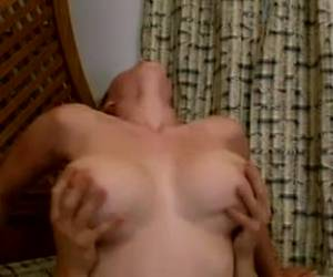 Big tittied housemaid is letting her boss fuck her brains out on a sofa