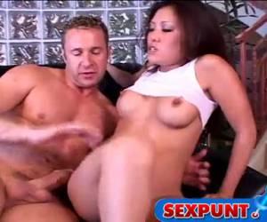 sexo porno, asiática coño golpeando.
