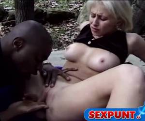 Blonde buckles orally satisfied by delicious nigger