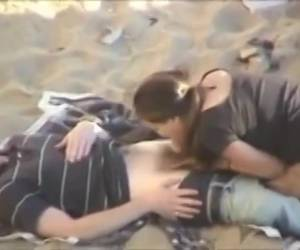 Horny couple secretly movie while doing a blowjob and fucking