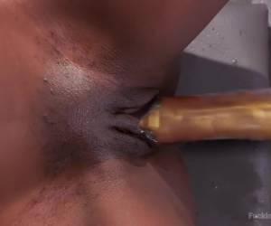 Crazy fetish xxx scene with best pornstar Ana Foxxx from Fuckingmachines