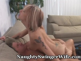 Wife Rides A New Man And Hubby Joins