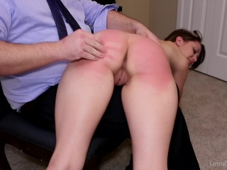 Babe is spanked, caned and put in bondage Pt.1