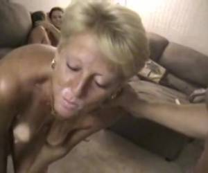 Mature amateur slut getting fucked and a huge load of cum