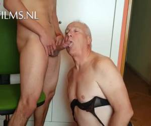 Horny old gay sucks a tasty young dick