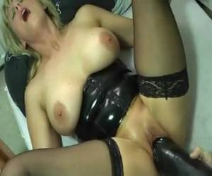 Thick whopper in her pussy