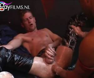 This is his first anal fist fuck in turn