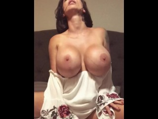 Brittany Elizabeth - Reverse Cowgirl cock pop cum at the end!