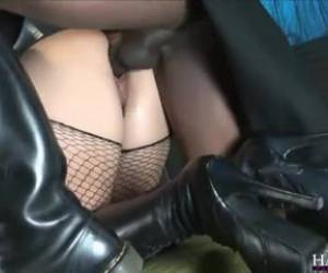 Liza wanted to feel fat, black cock inside her slightly hairy cunt and then to have anal sex