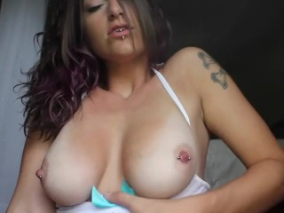 Smoking while titty massage