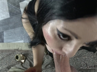 Dead_Girl Makes A Long Blowjob While Smoking A Big Joint