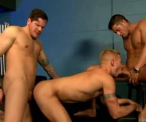 In this trio sex word the young man anal fucked while the other wanna say