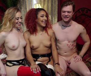 Exotic blowjob, threesome porn clip with incredible pornstars Mike Panic, Lyra Law and Daisy Ducati from Kinkuniversity