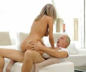 Busty blonde milf keep her in silk stockings on during sex
