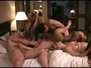 Homemade swinger party, massive orgy