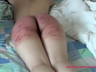 Very hard ass spanking