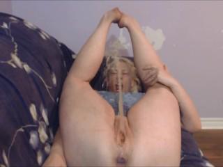 Pee Slut Pissing all Over Her Own Face