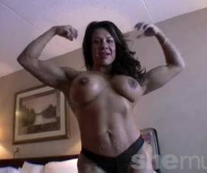 Muscular women and bodybuildsters are horny