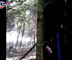 Gay bdsm in the forest, CBT and butt fucking