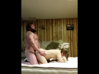 Straight muscle bear sets hidden cam for fuck date