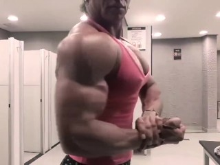 Tribute to Laine Costa's bulging pec muscles