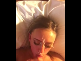 Homemade Amateur Facial Cumshot POV Girlfriend