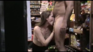 Amateur model fucked in public paper shop