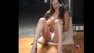 Slutty Teen Smoking During Masturbation Session For Her Fuckbuddy