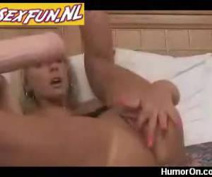 Super big dildo in bald pussy