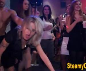 Party girls are getting down and dirty with guys they never saw before, because they are drunk
