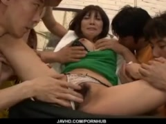 Karen Natsuhara, hot milf, goed nasty on a large cock
