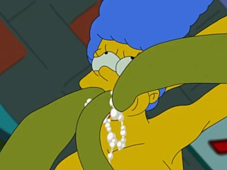 Simpsons porn Marge Simpson and tentacles