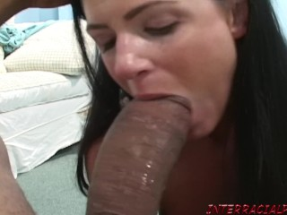 India Summer cannot wait to get her lips around Zilla's big black cock