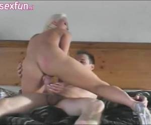 Sexy lingerie big tits blond and horny