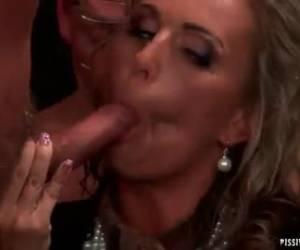 A horny sucking dicks, bondage gangbang