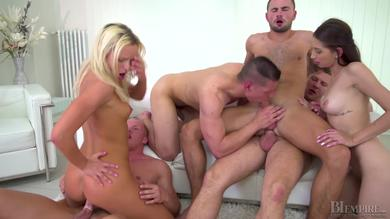 nasty friends have hardcore bisex group orgy