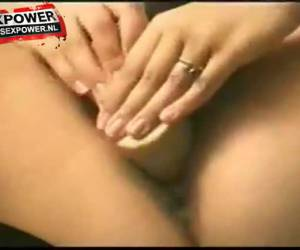 His horny wife whiteh her big dildo