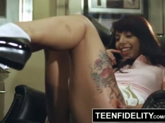 TEENFIDELITY - Gina Valentina Leaves A Mess on Teacher's Chair