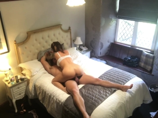 Secret Hotel Cam Spying on young Couple having hot sex with Cum Shot