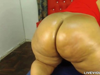 Sexy black BBW with huge tits and unreal hot butt