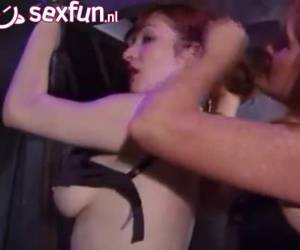Bdsm,mature mistress teaches young red beauty a lesson.