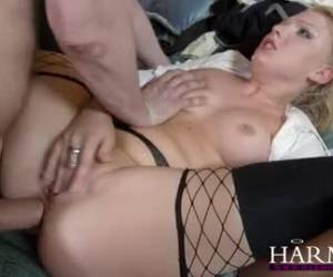 She screams out as his big cock give her an orgasm provides